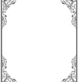 Vintage retro frame for design Ornamental floral vector image