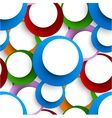 Abstract seamless backgorund with circles vector image vector image