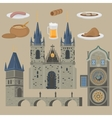Prague town Czech Republic Church of Mother of vector image