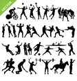 Sport players silhouettes vector image vector image