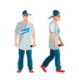 rapper man dressed in rappers style clothing vector image