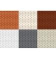Set of 6 colored brick wall Seamless vector image