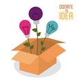 Donate to idea design vector image