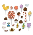 Set of Candy Icons Glaze caramel candy vector image