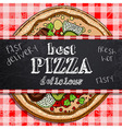 hot pizza advertisement vector image vector image
