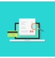 Online payment audit analyzing  pay bill vector image