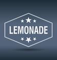 lemonade hexagonal white vintage retro style label vector image