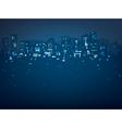 city night lights vector image