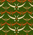 Japanese birds pattern vector image