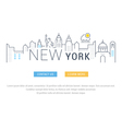 Website Banner and Landing Page New York vector image