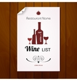 Wine list menu Red and white vector image