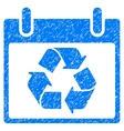 Recycle Calendar Day Grainy Texture Icon vector image