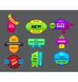 different ribbon labels on gray background vector image vector image