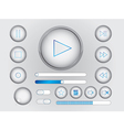 Web buttons and switchers vector image