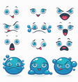 funny cartoon emotion for your own characters vector image