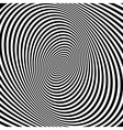Pattern with optical  Black and white vector image