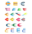 set of alphabet symbols and elements vector image vector image