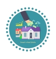 Invest in Real Estate Icon Flat Design vector image