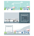 Architecture background Cityscape banner 3 vector image