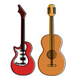 electric guitar and acoustic instruments isolated vector image