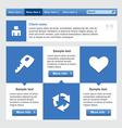 Flat web design elements set vector image