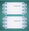 gear frames set vector image