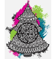 Greeting card with hand drawn ornamental doodle vector image