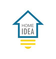 home idea logo vector image