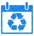 Recycle Calendar Day Grainy Texture Icon vector image