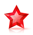 Red crystal star vector image