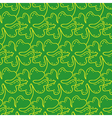 Seamless pattern of lucky four-leaf clover vector image