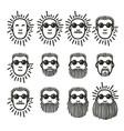 set of cartoon man faces vector image