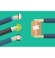 shopping icons in flat style Various payment vector image