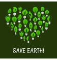 Save Earth Green energy elements vector image