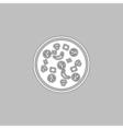 Pizza computer symbol vector image