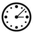 Big wall clock icon simple style vector image