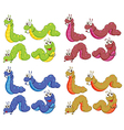A group of caterpillars vector image vector image