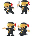Ninja Customizable Mascot 14 vector image vector image
