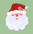 Santa in red cap vector image