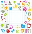 Education Flat Colorful Simple Icons vector image