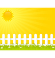 sunny summer day vector image vector image