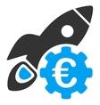 Euro Rocket Science Icon vector image