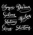 diving sport hand written typography vector image