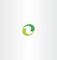 ecology leaf circle green logo icon vector image