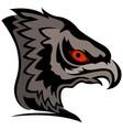 head of cartoon eagle vector image