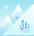 magnificent ski resort poster vector image