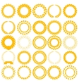Set yellow laurel wreath on the white background vector image