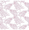 Tropical jungle palm leaves pastel pink color vector image