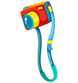 Colorful camera on white background vector image