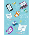 Tech devices icons set vector image vector image